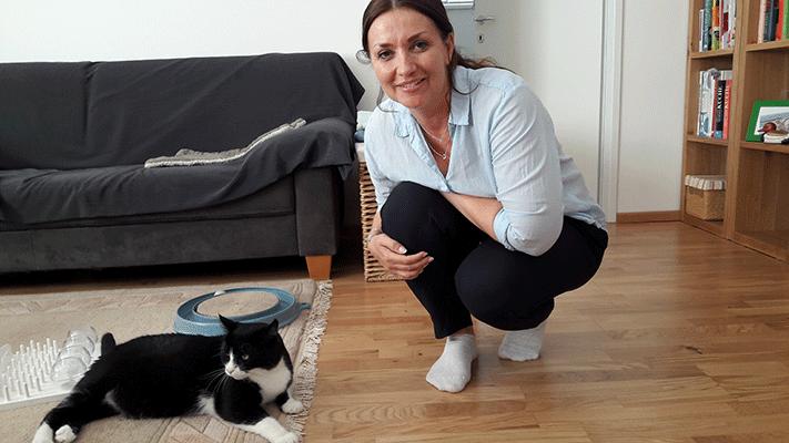 1. Österreichische Katzensitter-Ausweis mit Trainer @petraott aCATemy-Katzenschule