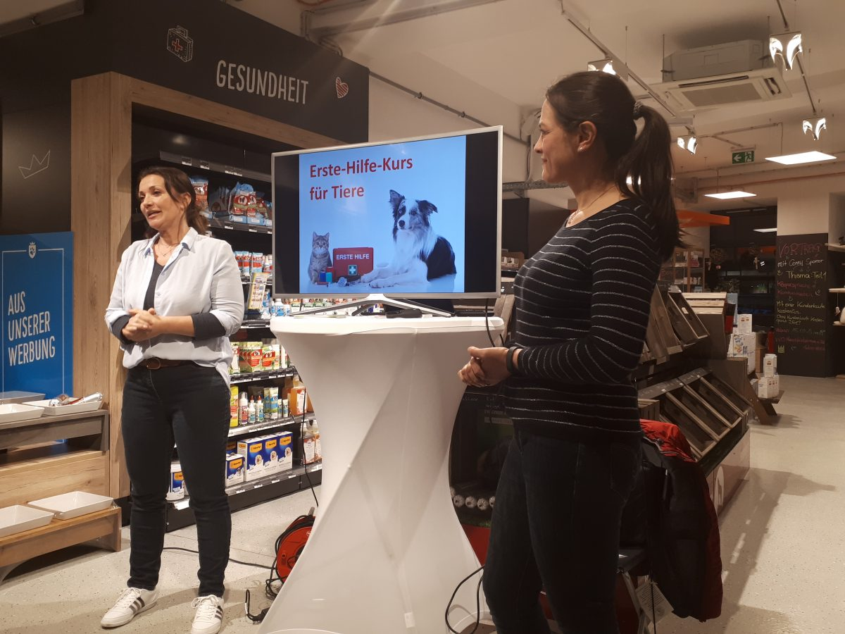 Petra Ott Erste Hilfe Vortrag im Tierkönig