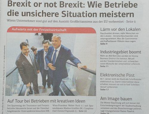 Ein wunderbarer Artikel von Petra Ott in der Zeitung WIENER WIRTSCHAFT