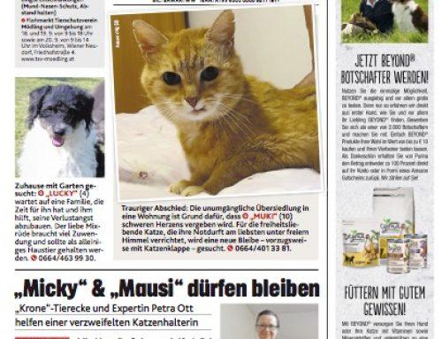 Artikel Tierecke Kronen Zeitung 16.09.2020